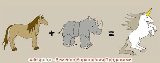 Носорог и единорог гифка