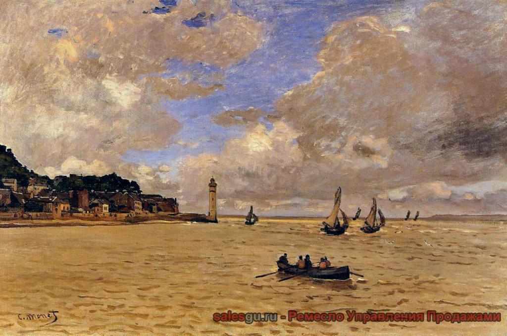 Маяк у Хосписа - Моне Клод Оскар Claude Monet, (1840 - 1926) - 1864 Холст, масло. 54 x 81 см Кунстхаус, Цюрих