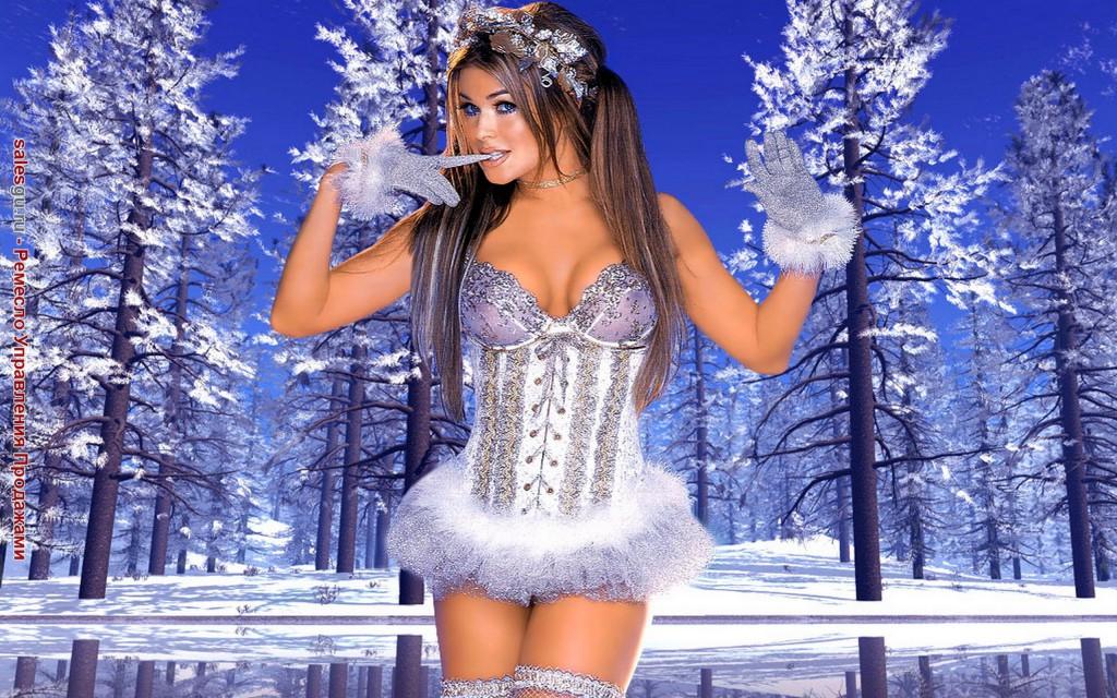 Новогодний сюрприз Снегурочки для SalesGuRu